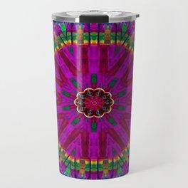 Peacock flower in colors Travel Mug