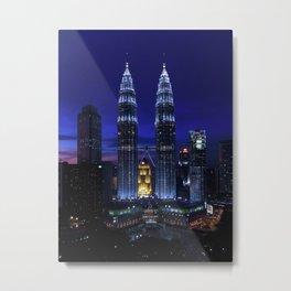 Petronas Towers in Kuala Lumpur, Malaysia Metal Print
