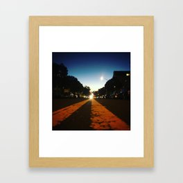 Double Yellow Framed Art Print