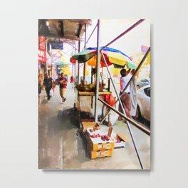Street Vendors 2 Metal Print