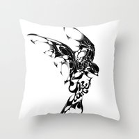freedom Throw Pillows featuring Freedom by KUI29