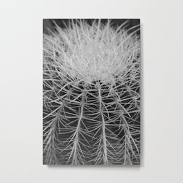 Cactus Black and White Metal Print
