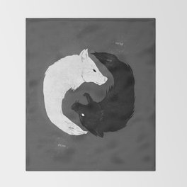 Feed the Wolves Throw Blanket