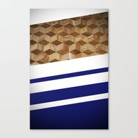 wooden Canvas Prints featuring Wooden  by Fox Industries