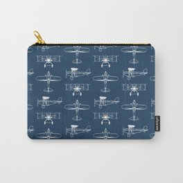 Biplanes // Navy Carry-All Pouch