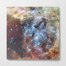 372. Hubble Watches Star Clusters on a Collision Course Metal Print