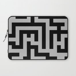 Black and Gray Labyrinth Laptop Sleeve