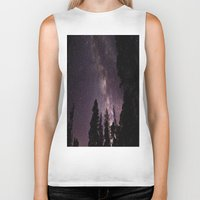 milky way Biker Tanks featuring Milky Way by Holly O'Briant