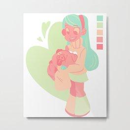 Pastel Mabel Metal Print