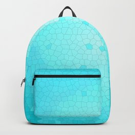 Glare on the water. Abstract Stained glass blue Backpack