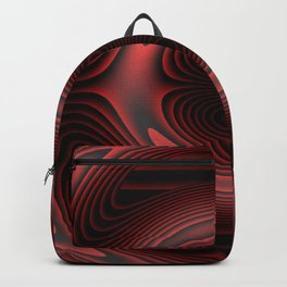 color  dark red silver pattern Backpack