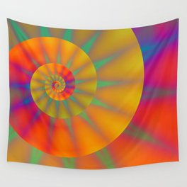 The Golden Sprial with Spikes Wall Tapestry