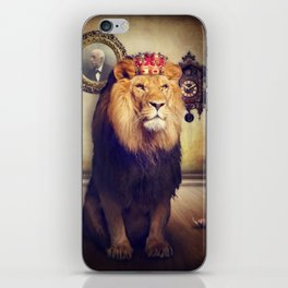 The royal lion iPhone Skin