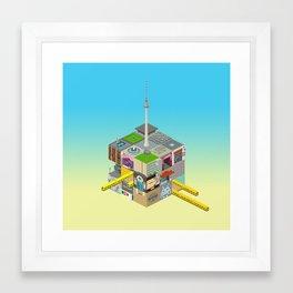 Mein Berliner Würfel / My Berlin Cube Framed Art Print