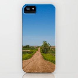 Country Road, Max, North Dakota 3 iPhone Case