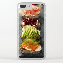 Tasty rye bread sandwiches Clear iPhone Case