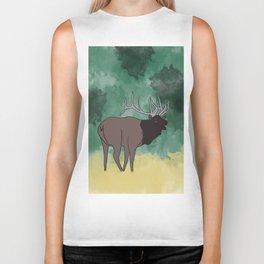 Bull Elk Bugling Biker Tank