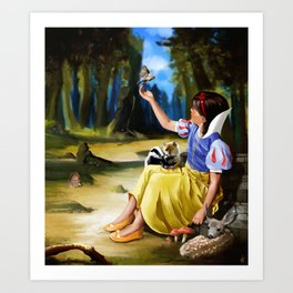 Snow White and Friends Art Print