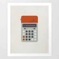 "Vintage Calculator Series: ""Electronic 101"" Art Print"