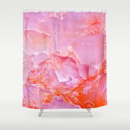 Pink onyx marble Shower Curtain