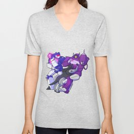 Waves and waves and a cat Unisex V-Neck
