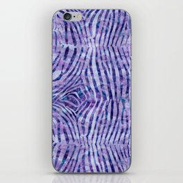 Purple Zebra Print iPhone Skin