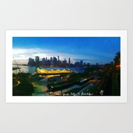 New York City as viewed from the Beautiful Brooklyn Heights Art Print