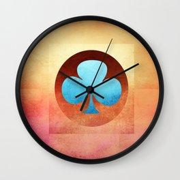 Ace of Trefoil III Wall Clock