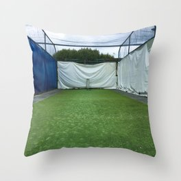 Outdoor Cricket Nets Throw Pillow