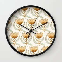 Bohemian Sunflower Pattern Wall Clock