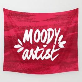 Moody Artist Magenta Wall Tapestry