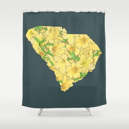 South Carolina in Flowers Shower Curtain