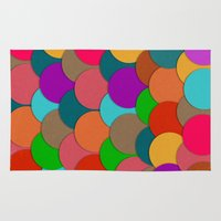 circles Area & Throw Rugs featuring Circles.  by Eleaxart