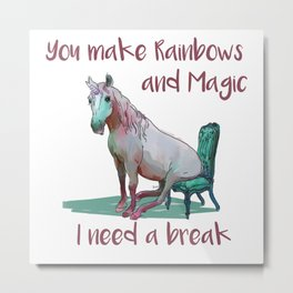 Unicorn Break Metal Print