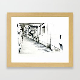 Maltese Steps Framed Art Print