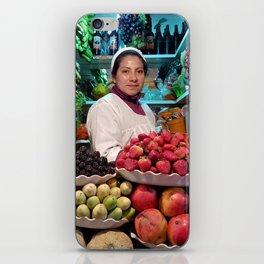 Fruit vendor from La Paz. iPhone Skin