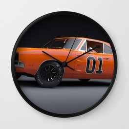 1969 Hugger Orange Hemi Charger RT color photograph / photography / poster Wall Clock