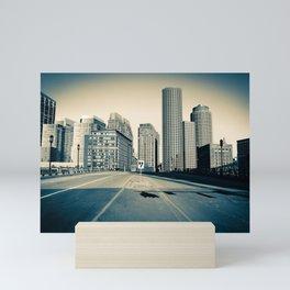 Downtown Blue Mini Art Print