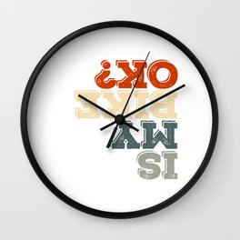 "Cool Biking Tee For Bikers With Unique Awesome Style ""Is My Bike Ok?"" T-shirt Upside Down  Wall Clock"
