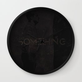 Do Something Grunge Wall Clock