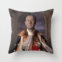 The current King of England- Mycroft Holmes Throw Pillow