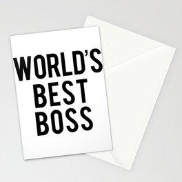 World's Best Boss Stationery Cards
