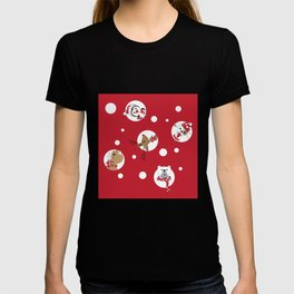 Christmas white dots animals T-shirt