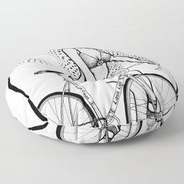 """Bicycle Race""  Floor Pillow"