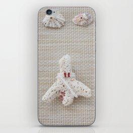 Seashells and urchins design iPhone Skin