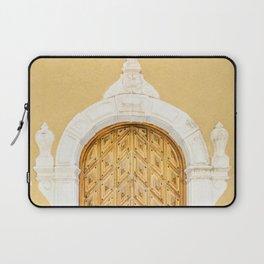 Stockholm Door, Travel Photography Laptop Sleeve
