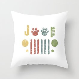 Nice Riding Tee For Riders With A Minimal Illustration Of A Jeep T-shirt Design Wheels Car Ride Throw Pillow