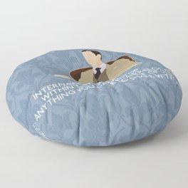 The Reichenbach Fall - Mycroft Holmes Floor Pillow