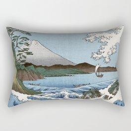 Utagawa Hiroshige The Sea at Satta in Suruga Province Rectangular Pillow