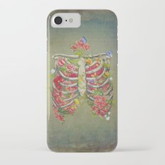 Blooming skeleton on the grunge background  Slim Case iPhone 7